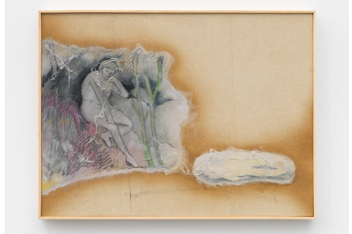 Union Pacific – Aleksander Hardashnakov - Aleksander Hardashnakov, Other Peoples Pain, 2015, Chalk pastel, colored pencil, pencil, latex primer, felt and matte fixative on lamb skin in artists frame, 47 x 62.23 x 4.57 cm