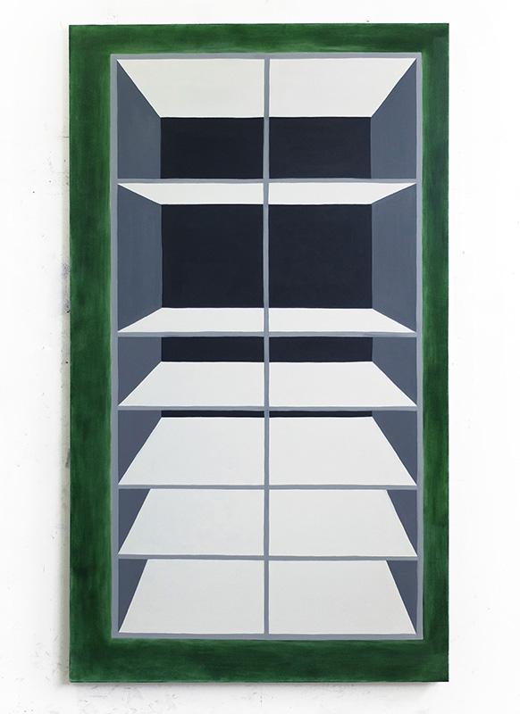 Union Pacific – Max Ruf - Max Ruf Volumen und Kapazität I, 2017 Oil on canvas 130 x 230 cm