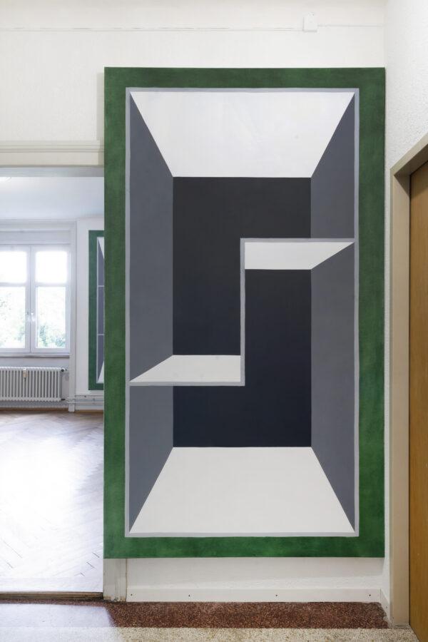 Union Pacific – Max Ruf - Volumen und Kapazität, 2021, oil on canvas 130 x 230 cm