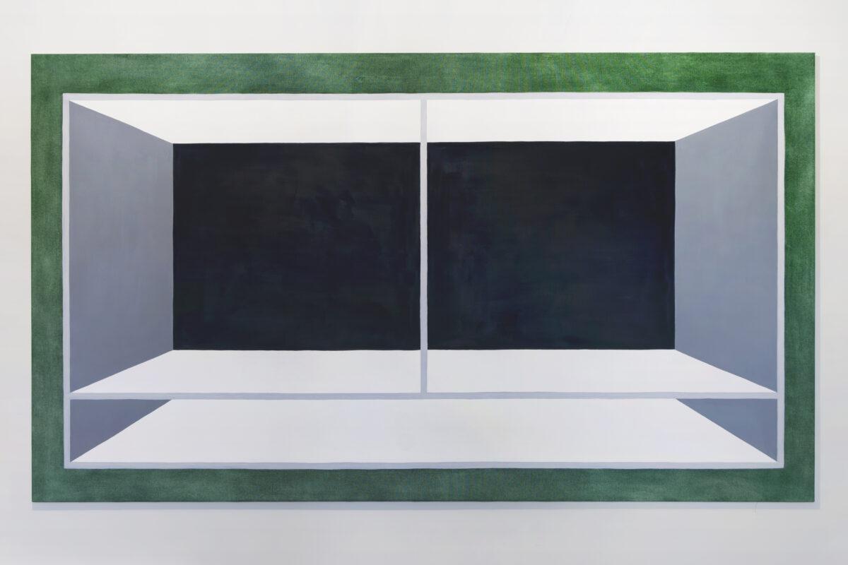 Union Pacific – Max Ruf - Volumen und Kapazität, 2021, oil on canvas, 130 x 230 cm