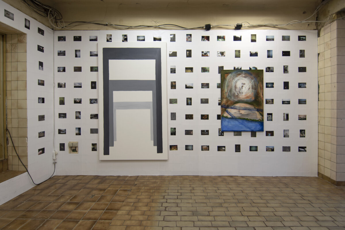 Union Pacific – Max Ruf - Allergische Instrumente (Installation view featuring Philip Simon), 2019, Liszt, Berlin