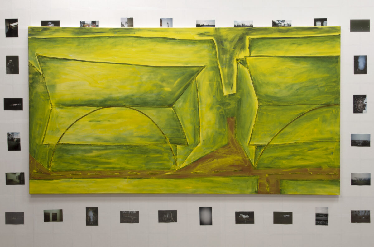Union Pacific – Max Ruf - Untitled (transparent yellow), 2018, oil on canvas, 130 x 230 cm