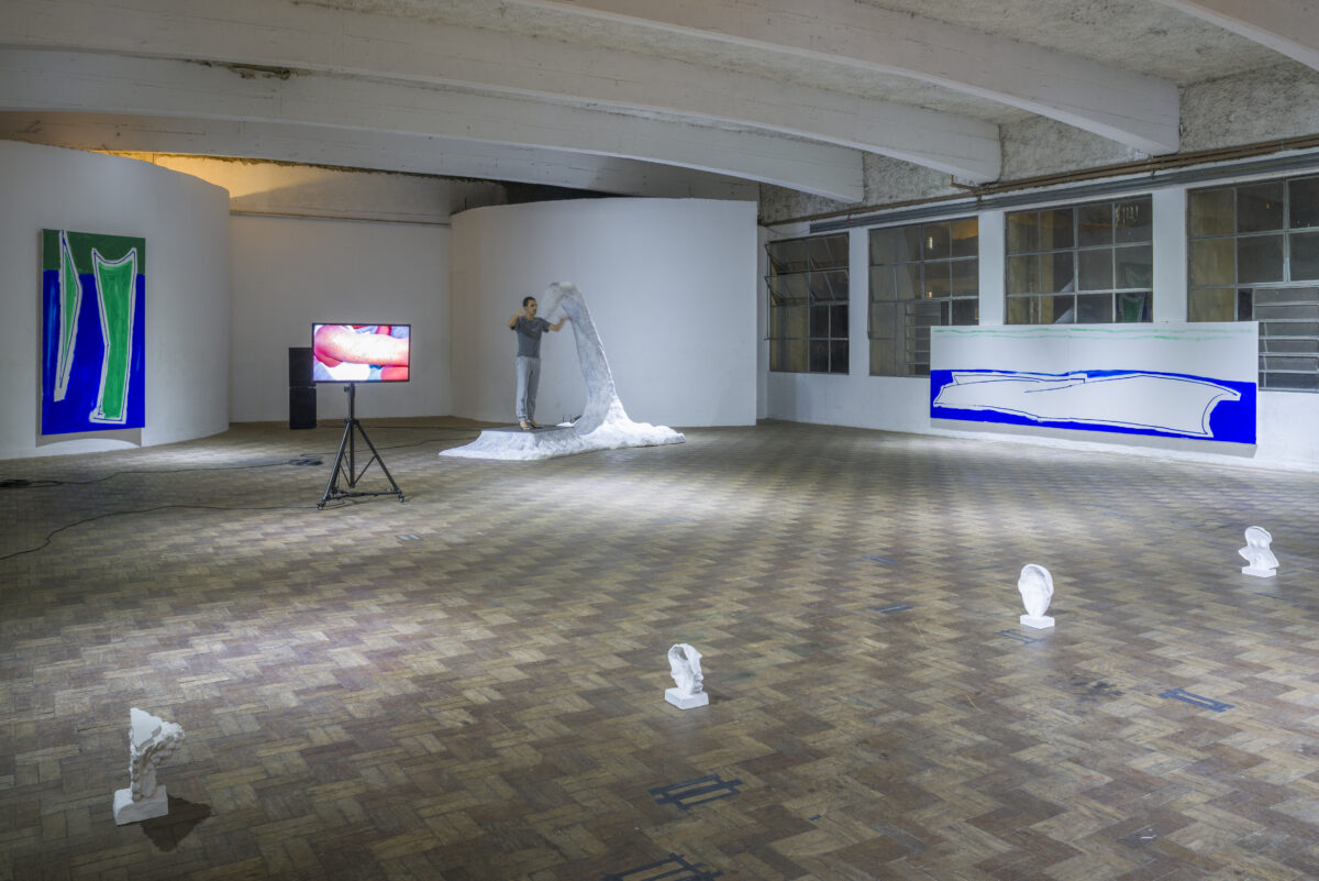 Union Pacific – Max Ruf - Postcodes (soft) installation view, 2015, Casa do Povo, Sao Paulo (curated by Gabriel Lima and Pedro Wirz; with Erika Verzutti, Pedro Neves Marques and Emanuel Rohss)
