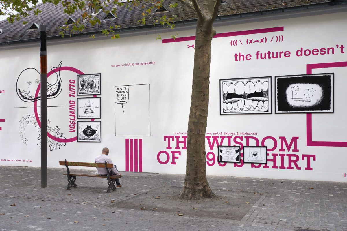Union Pacific – Yoan Mudry - The Future Doesn't Need Us, Back wall project, Kunsthalle Basel, 2021.