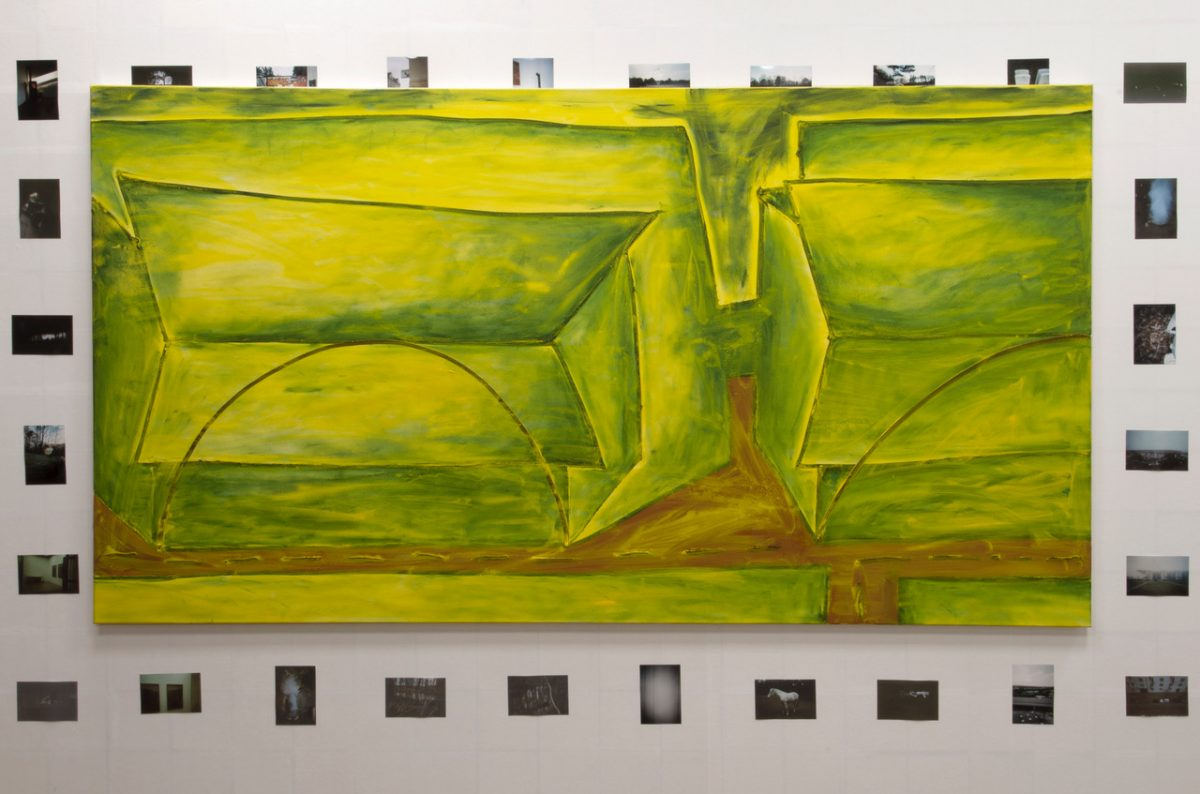 Union Pacific – Max Ruf - Untitled (transparent yellow), 2018, Oil on canvas, 245 x 135 cm