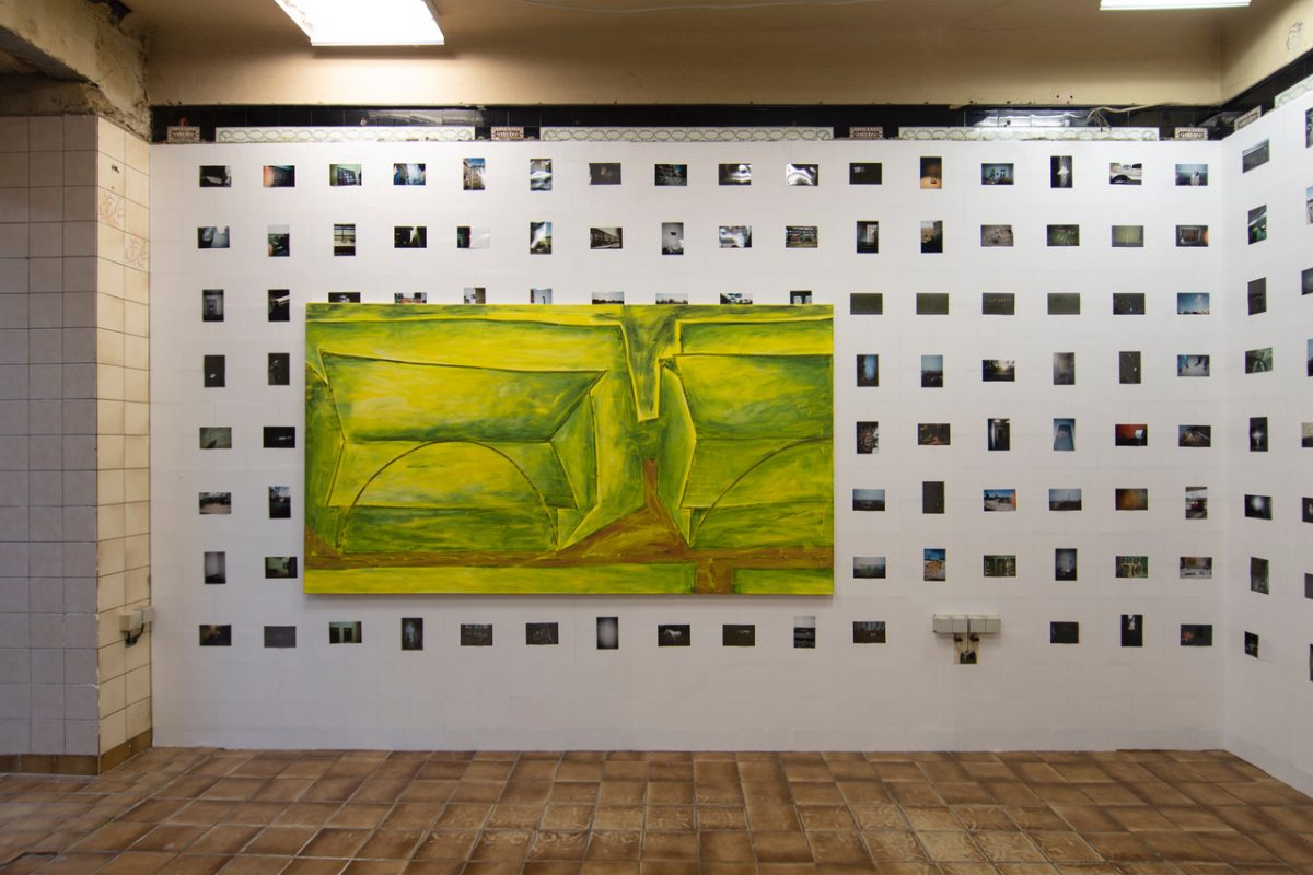 Union Pacific – Max Ruf - Installation view of Untitled (transparent yellow) at LISZT, Berlin, 2019