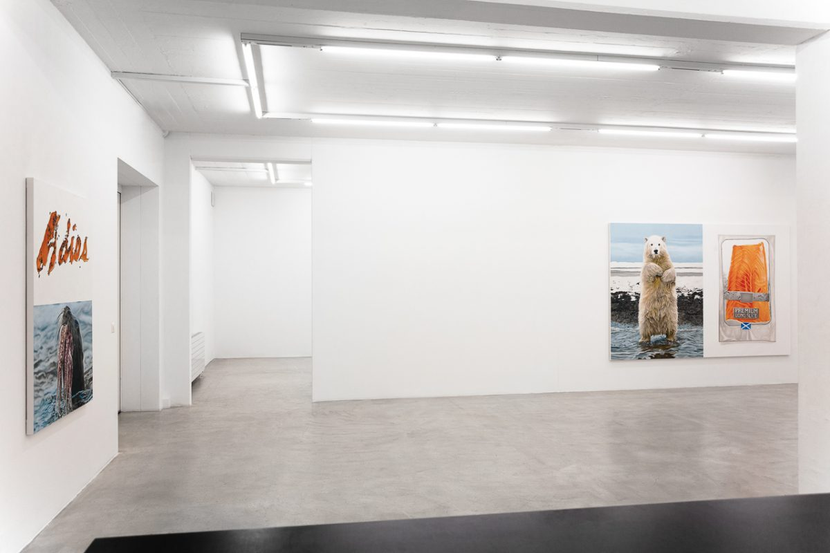 Union Pacific – Yoan Mudry - Exhibition installation view of Schizophrenic Values at Nicholas Krupp, Basel 2019