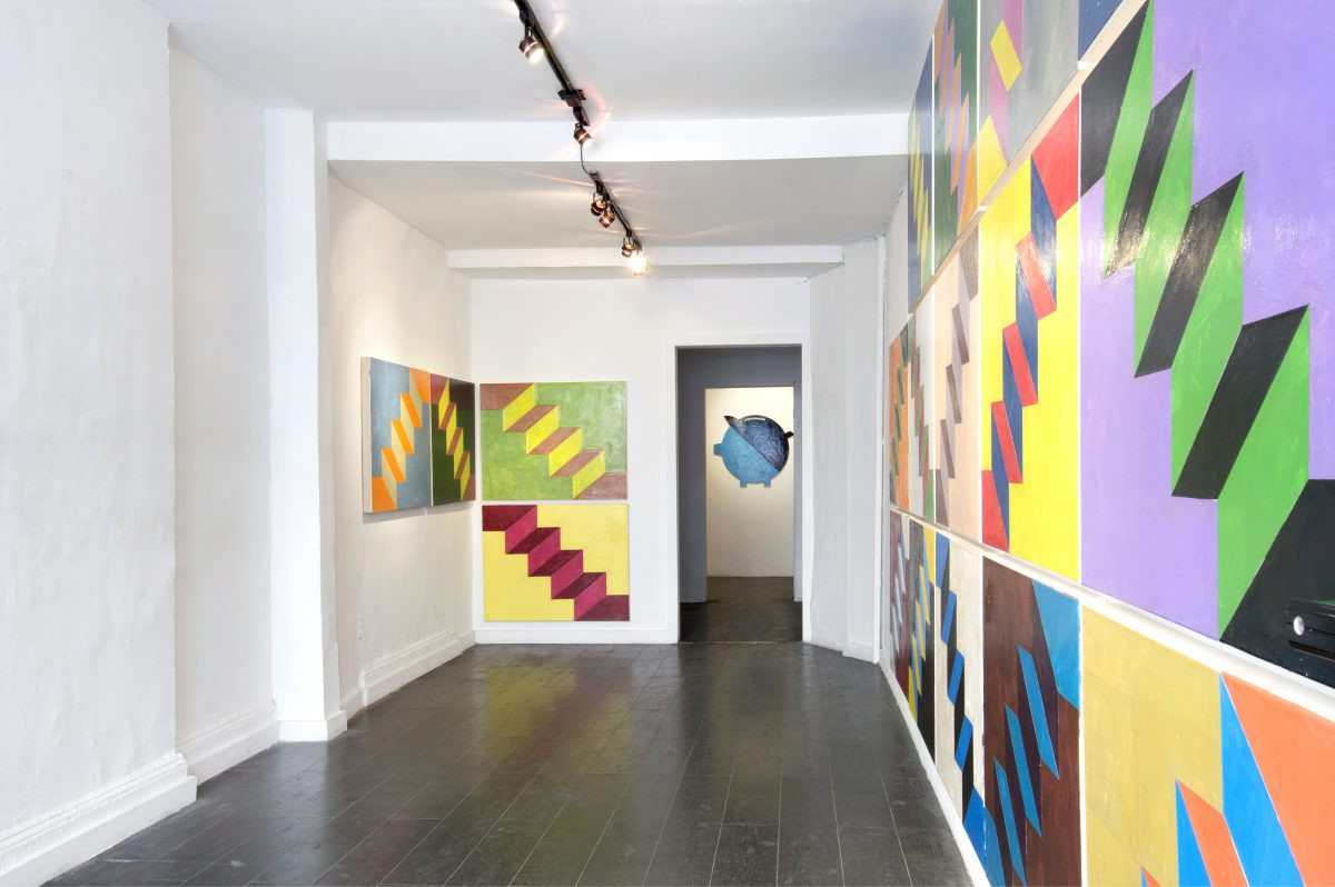 Union Pacific – Jan Kiefer - Installation view of JaJaJaJaJaNeinNeinNeinNeinNein at Kai Matsumiya, New York, 2017