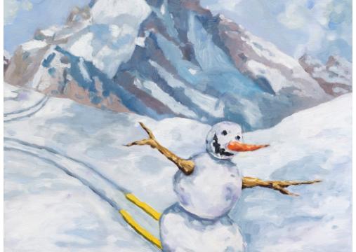 Union Pacific – Jan Kiefer - Skiing Snowman