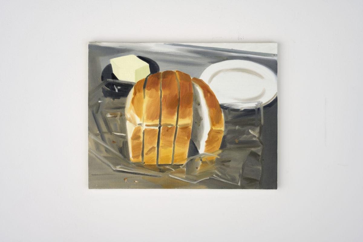 Union Pacific – Ulala Imai - Ulala Imai, BREAD, 2020, Oil on canvas, 41.2 x 32 x 2 cm
