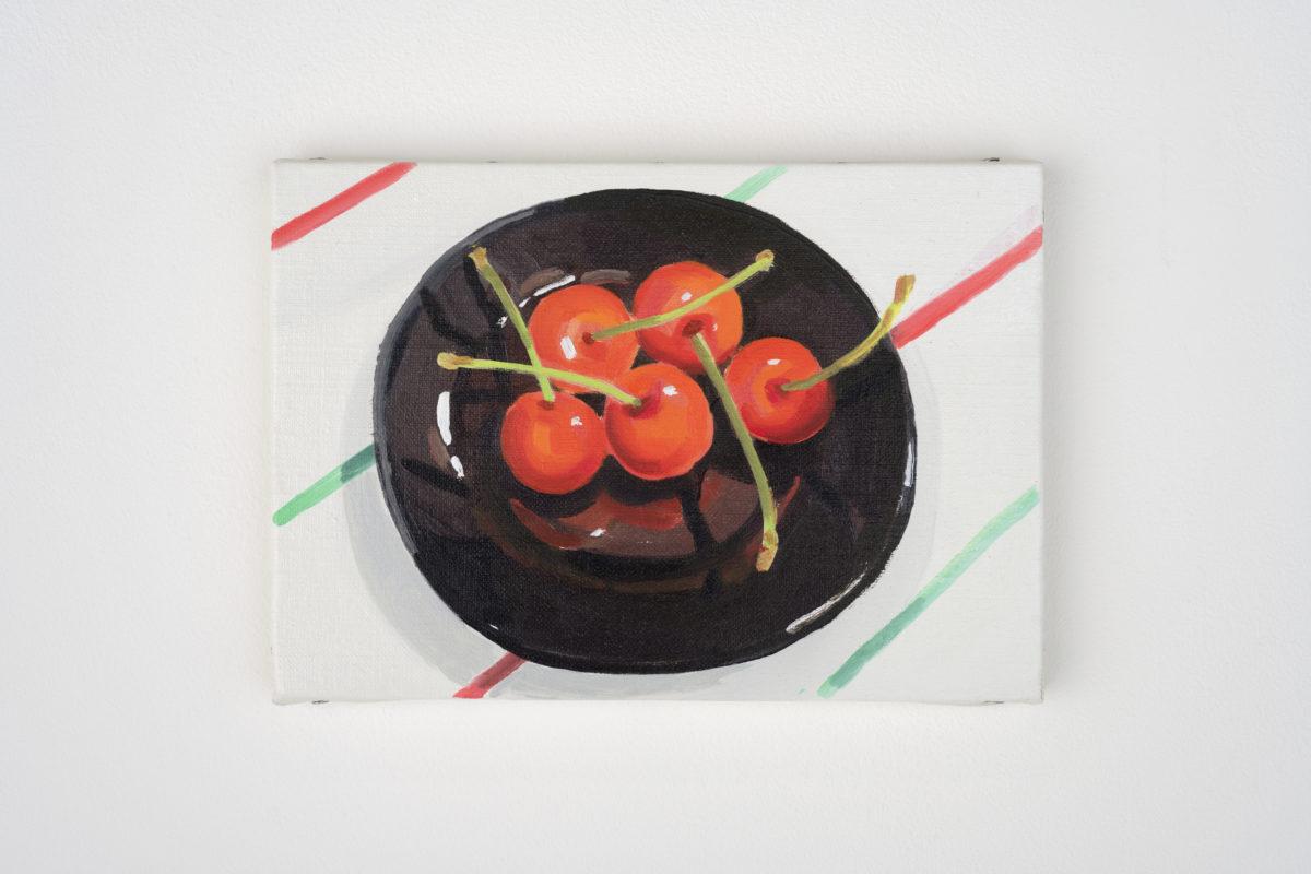 Union Pacific – Ulala Imai - Ulala Imai, CHERRIES, 2020, Oil on canvas, 15.8 cm × 22.7 cm