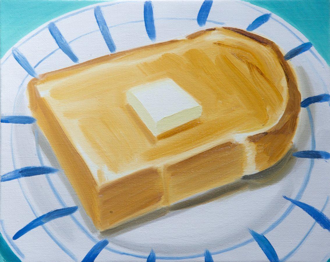 Union Pacific – Ulala Imai - Ulala Imai, Butter toast, 2020, Oil on canvas, 27.3 x 22 cm