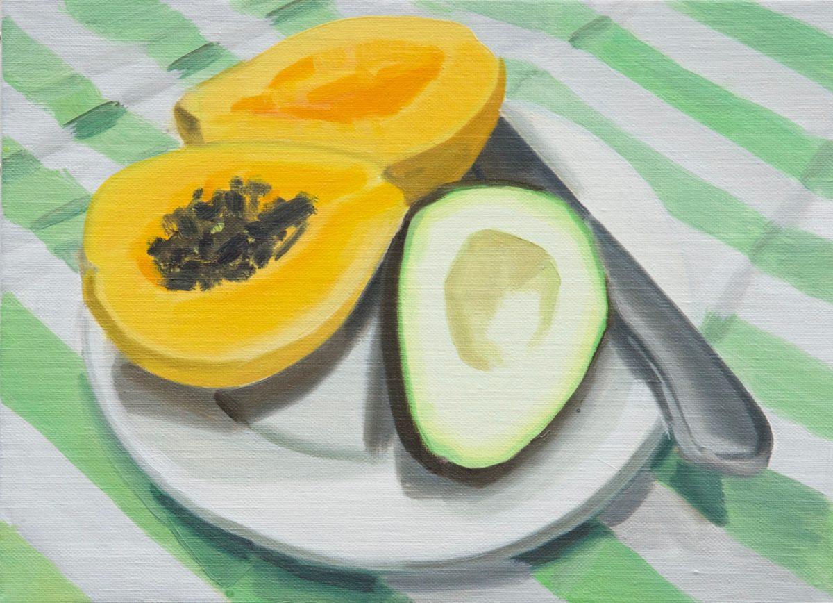Union Pacific – Ulala Imai - Ulala Imai, FRUITS, 2020, Oil on canvas, 24.2 x 33.3 x 2 cm
