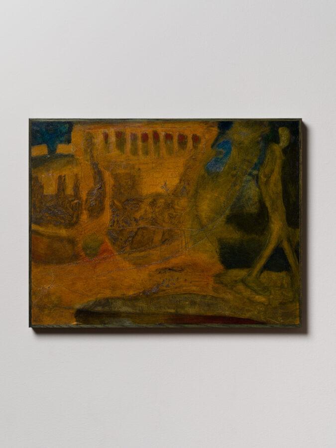 Union Pacific – Martin Aaagaard Hansen - Mikalati , 2020. Oil, Engraving, Gesso and varnish on panel, 38 cm x 50 cm